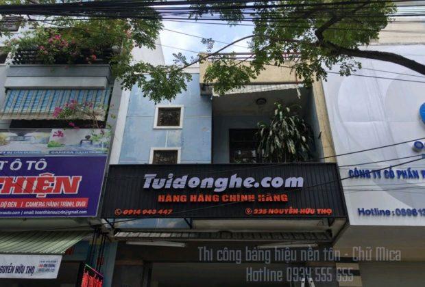 Làm bảng hiệu tôn gợn sóng giá rẻ tại Đà Nẵng