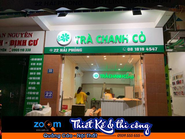 Làm bảng hiệu trà chanh tại Đà Nẵng